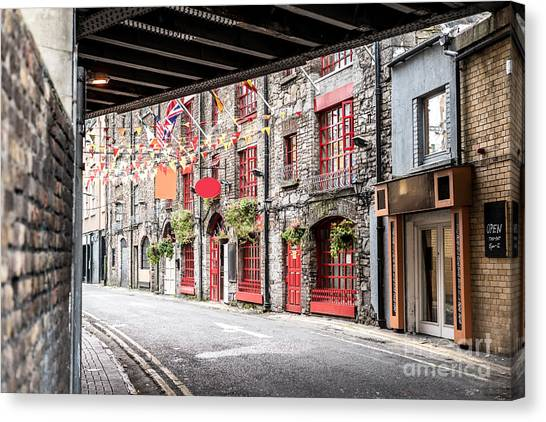 One Beautiful  Street  In Dublin Canvas Print by Massimofusaro