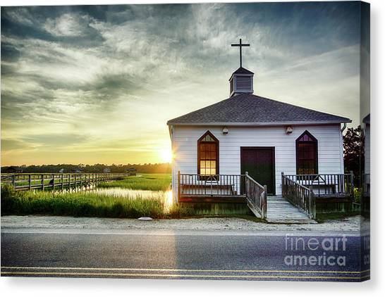 Marsh Grass Canvas Print - One Eye Closed by DiFigiano Photography