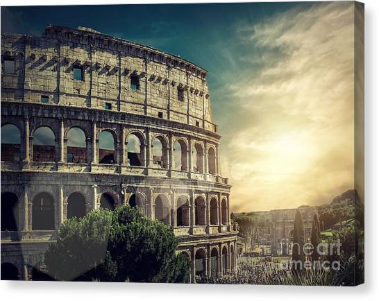 Monument Canvas Print - One Of The Most Popular Travel Place In by Andrey Yurlov