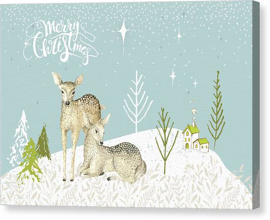 Canvas Print - Ooh Deer It's Christmas by Amanda Lakey
