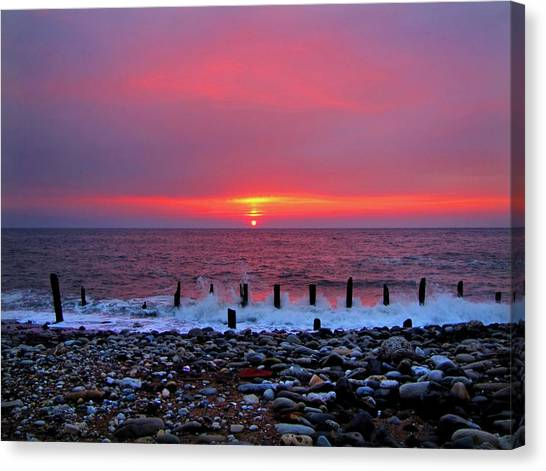 Sunderland Canvas Print - Open Furnace by Paul Downing