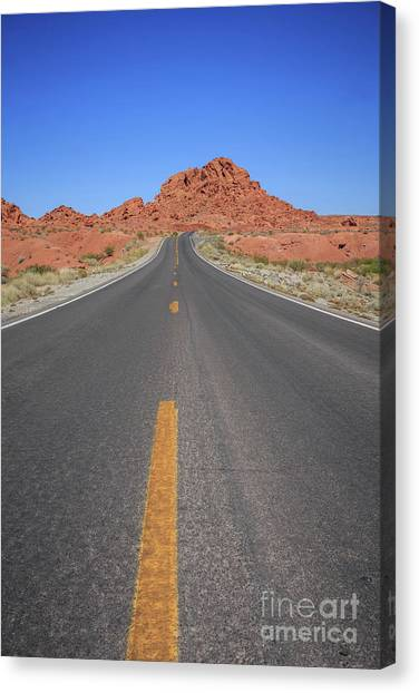 Valley Of Fire Canvas Print - Open Road Valley Of Fire by Edward Fielding
