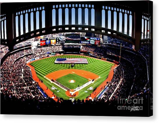 Opening Day Yankee Stadium Canvas Print