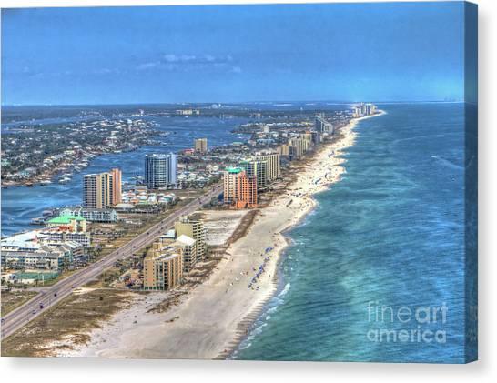 Orange Beach East Canvas Print