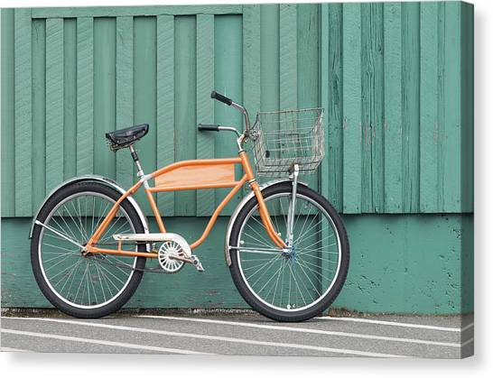 Orange Bike Canvas Print by Tbd