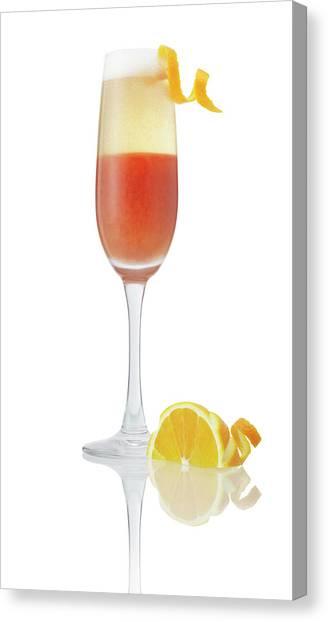 Orange Cocktail Champagne Canvas Print