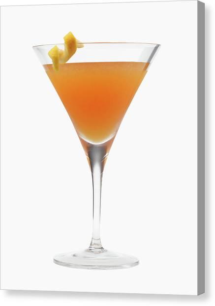 Orange Cocktail Drink Canvas Print