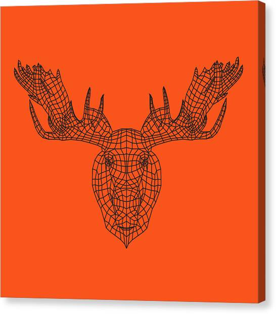 Lynx Canvas Print - Orange Moose by Naxart Studio