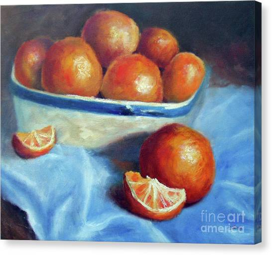 Oranges And Blue Canvas Print