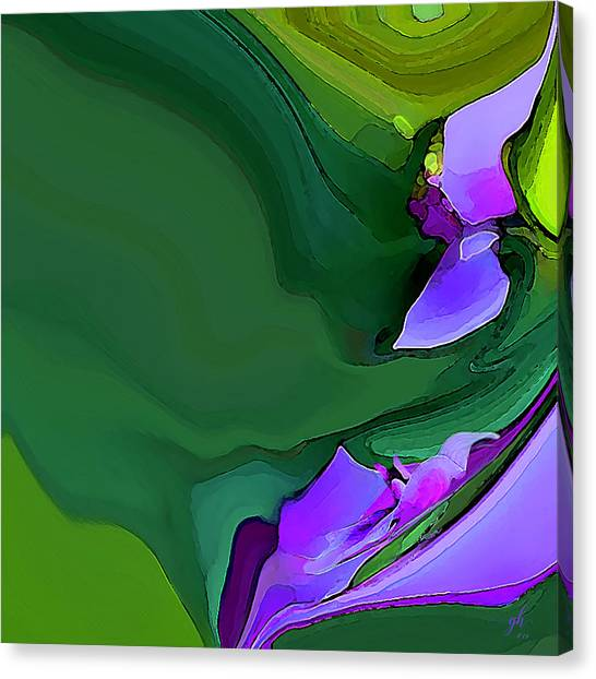 Orchids And Emeralds Canvas Print