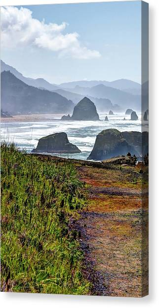 Canvas Print featuring the photograph Oregon Coast Formations by Jerry Sodorff