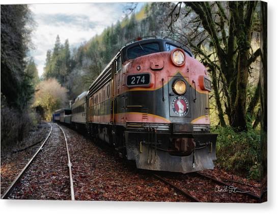 Oregon Coast Railroad Canvas Print