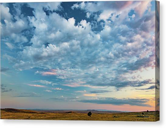 Oregon High Desert Cloudscape Canvas Print by Leland D Howard