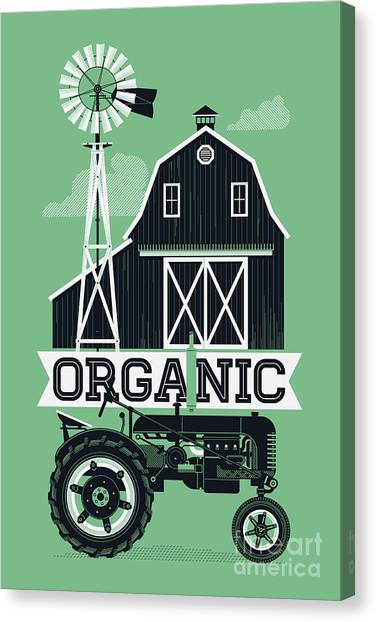 Farmland Canvas Print - Organic Poster Or Web Banner Template by Mascha Tace
