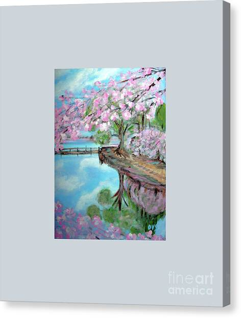 Original Painting. Joy Of Spring. Canvas Print