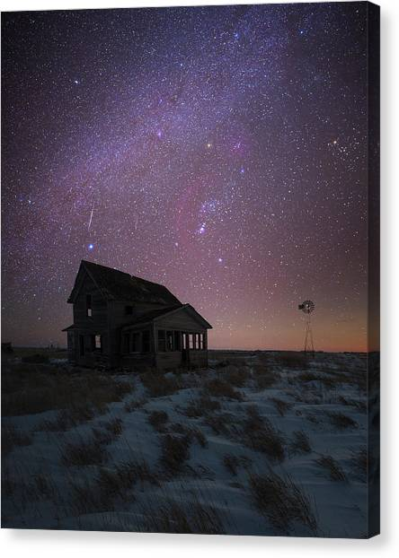 Canvas Print featuring the photograph Orion  by Aaron J Groen