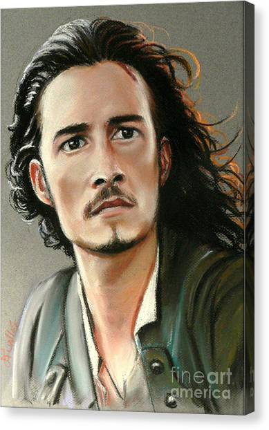 Orlando Bloom Canvas Print - Orlando Bloom by Louise Lavallee