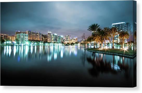 Orlando Night Cityscape Canvas Print