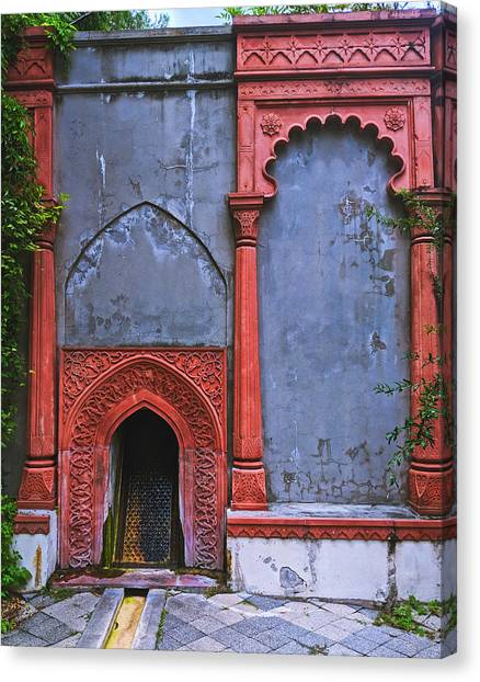 Ornate Red Wall Canvas Print