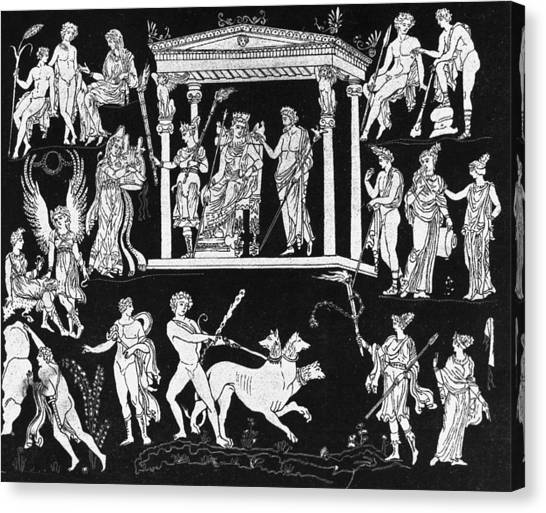 Orpheus And Eurydice Canvas Print by Hulton Archive