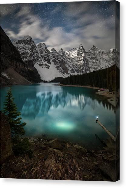 Otherworldly / Moraine Lake, Alberta, Canada Canvas Print