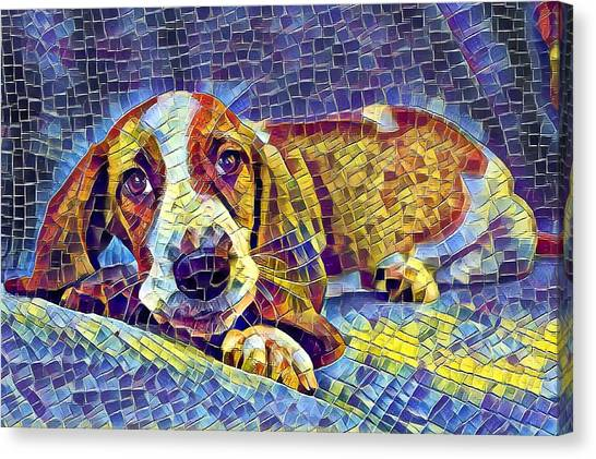 Otis The Potus Basset Hound Dog Art  Canvas Print