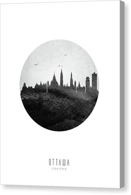 Ottawa Canvas Print - Ottawa Skyline Caonot04 by Aged Pixel