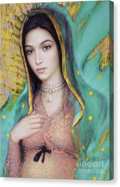 Our Lady Of Guadalupe, 1/2 Canvas Print