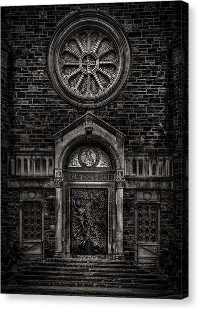 Canvas Print featuring the photograph Our Lady Of Sorrows by Brian Carson