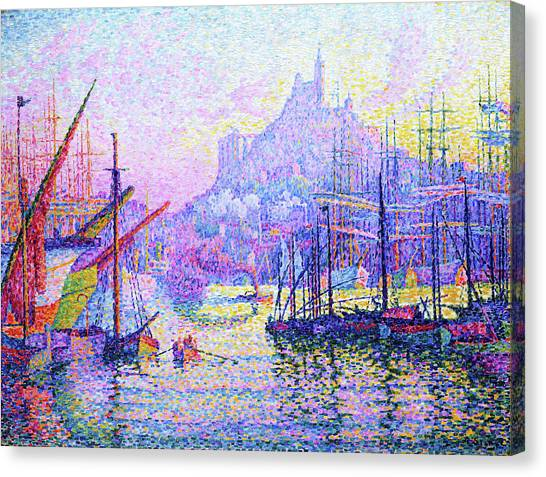 Signac Canvas Print - Our Lady Of The Guard - Digital Remastered Edition by Paul Signac