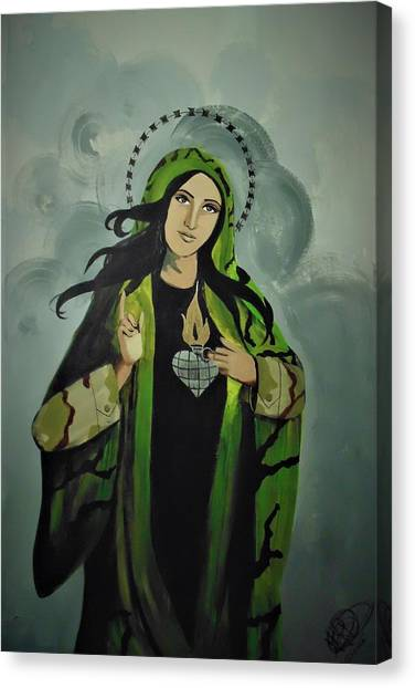 Our Lady Of Veteran Suicide Canvas Print