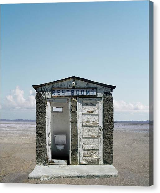 Outhouse On Beach, Close-up Canvas Print by Ed Freeman