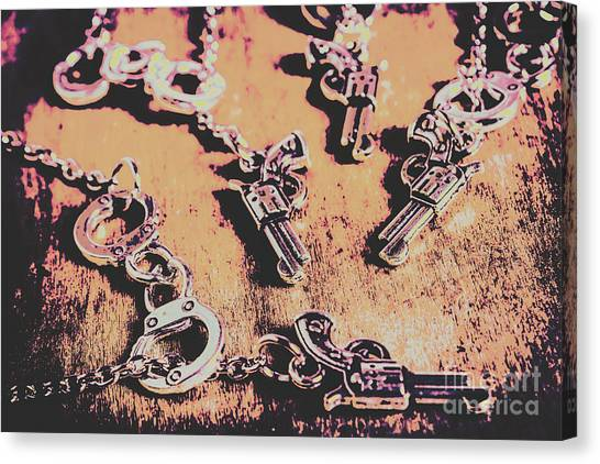 Pistols Canvas Print - Outlaw Frontiers by Jorgo Photography - Wall Art Gallery