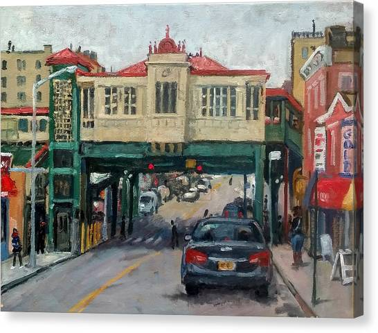 Overcast 231 Street Bronx Nyc Canvas Print