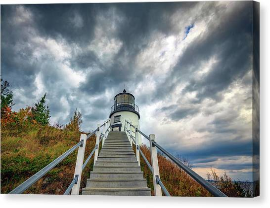 Canvas Print featuring the photograph Owls Head Lighthouse by Rick Berk