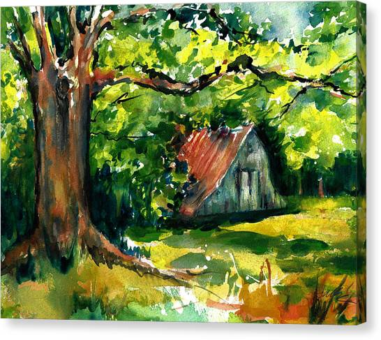 Ozarks Barn In Boxley Valley - Late Summer Canvas Print
