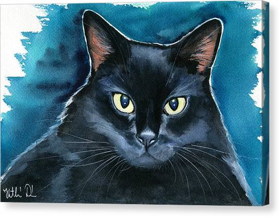 Ozzy Black Cat Painting Canvas Print