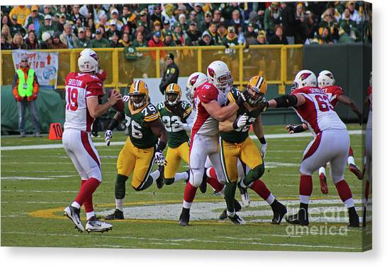 Clay Matthews Canvas Print - Pac Attack by Rick Inskeep