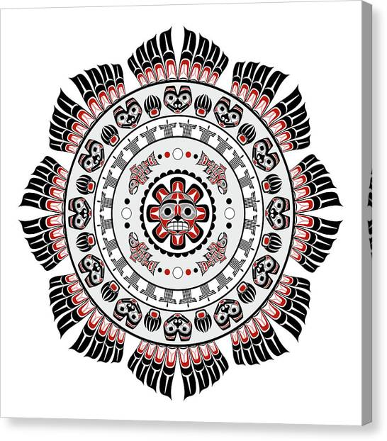 Pacific Northwest Native American Art Mandala Canvas Print