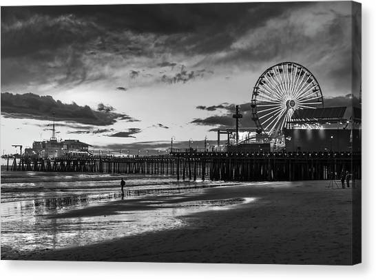 Pacific Park - Black And White Canvas Print