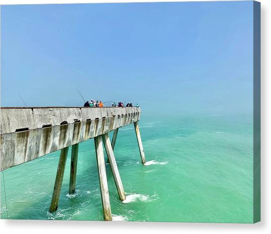 Color Canvas Print - Pacifica Pier 1 by Julie Gebhardt