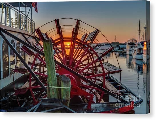 Paddle Wheel Sunrise Canvas Print