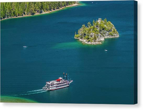 Paddle Wheeler, Lake Tahoe, Us Canvas Print