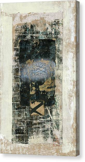 Torn Paper Collage Canvas Print - Page0419cl by Carol Leigh