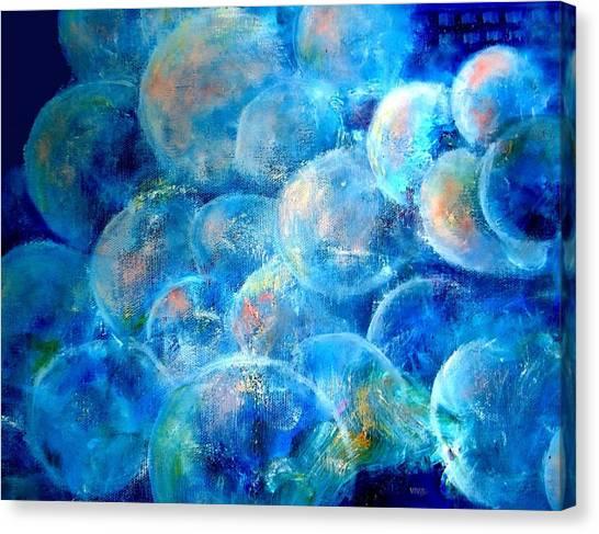 Painterly Bubbles Canvas Print