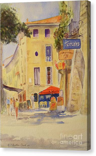 Painting Of Uzes France Canvas Print