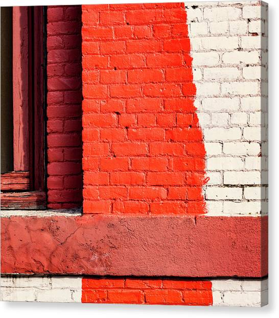 Bricks Canvas Print - Painting The Town Red Number 1 by Carol Leigh