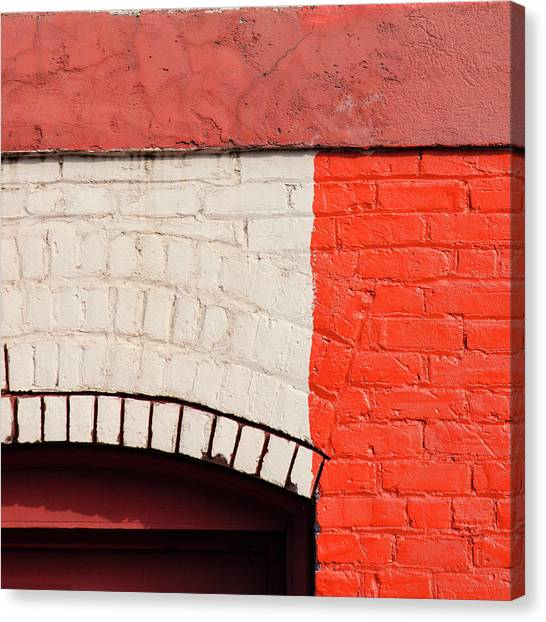 Bricks Canvas Print - Painting The Town Red Number 2 by Carol Leigh