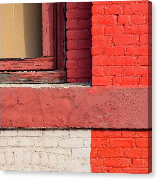 Bricks Canvas Print - Painting The Town Red Number 3 by Carol Leigh