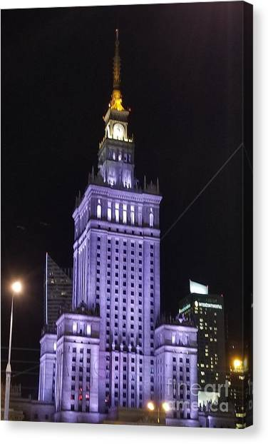 Palace  Of Culture And Science  Canvas Print